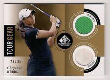 Cheyenne Woods 2014 SP GAME USED GOLF Card #CW Ltd #29/35 DUAL SHIRT TOUR GEAR