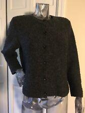 J Crew Sz PS Wool Blend Button Cardigan Sweater Gray