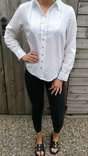 WOMEN'S WHITE STUFF UK 10 WHITE & BLUE SPOTTED TUNIC PREPPY SUMMER HOLIDAY TOP