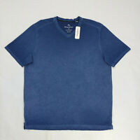 Tommy Bahama Men's Cirrus Coast Striped V-Neck T-Shirt Dockside Blue Size L