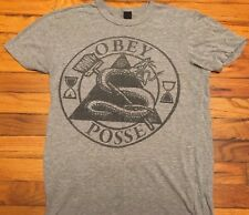 Obey Shirt Heather Grey Shepard Ferry OBEY Posse Illuminati Banksy Punk Metal S