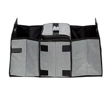 Folding Car Trunk Organizer and Cooler Set With Insulated Shield - Houndstooth