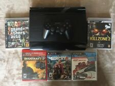 PlayStation PS3 Slim 500gb CECH-4301C 5 Games Controller HDMI GTA IV Farcry