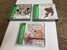 3 playstation 1 games Final Fantasy IX Anthology Origins new lot ps1