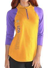G-III Sports NBA Los Angeles Lakers Womens Zip It Up 3/4 Sleeve Tee Small NEW