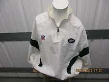 REEBOK NEW YORK JETS WHITE  HALF ZIP-UP XX-LARGE SEWN JACKET PRE-OWNED 100% POLY