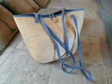 NEW Freeport Studio for L. L. Bean Large Straw Handbag Tote Purse Shoulder Bag