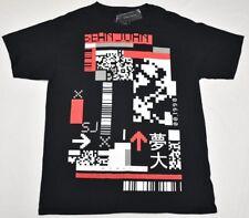 Sean John T-Shirt Men Sz L Digital Codes Graphic Tee Black Urban Streetwear P225