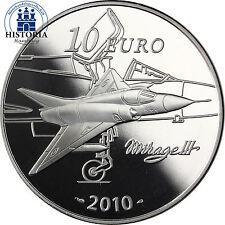 Frankreich 10 Euro Sondermünze 2010 PP Industrieller Marcel Dassault Mirage III