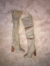 Chase and Chloe faux suede over the knee boots Sz 8