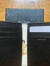 New Paul Smith Naked Lady Pinup Bifold Leather Wallet Card Holder