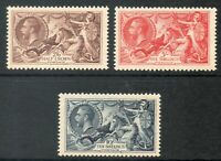 George V Sg 450 - 452 1934 Re-Engraved set of 3 Seahorses UNMOUNTED MINT/MNH