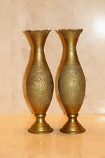 Magnificent handmade Huge pair of antique Persian  isfhan vase Qalam Zani