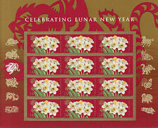 CHINESE NEW YEAR STAMP SHEET -- USA, #4435 44 CENT 2010 YEAR OF THE TIGER