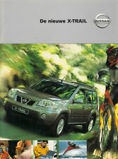 Nissan X-Trail 2001-02 Belgian Market Sales Brochure Comfort Sport Elegance