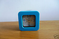 GLOSS BLUE MINI ALARM CLOCK - BATTERY OPERATED - NEW