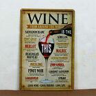 "Home Decor Pub Tavern Garage Tin Sheet Metal Sign ""WINE"" Vintage Picture LD461"