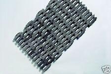 Outdoor Indoor Heavy Duty Deluxe Tufted Rubber Link Doormat Black 58cm x34cm mat