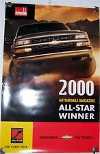 2000 00 Chevrolet Silverado Pickup Poster Brochure MINT