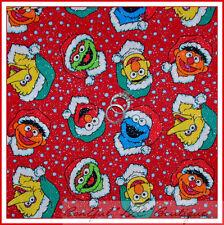 BonEful Fabric FQ Cotton Quilt Red Sesame Street Toy Xmas Elmo Snowflake Glitter