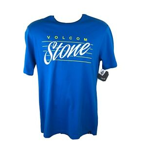 Volcom Stone Deadstock Blue Short Sleeved T Shirt - Small - New With Tags