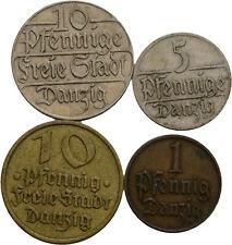 Künker: Danzig, Kleinmünzenlot, 1 Pfennig - 10 Pfennige, 1923-1932, siehe Fotos