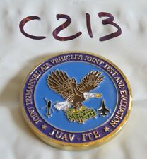 DEPT OF DEFENSE JOINT UNMANNED AIR VEHICLE TEST JUAV-ITE CHALLENGE COIN C213