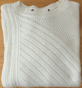 Ladies Ex M&S Sizes 10 14 16 Long Sleeve Cream Jumper with Wool New rrp £29.50