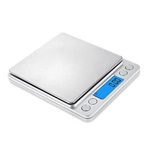 BILANCIA ELETTRONICA BILANCINO DI PRECISIONE DIGITALE LCD PESA 0.01g 500g PESO