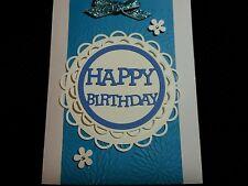 Handmade Greeting Card HAPPY BIRTHDAY Home-crafted