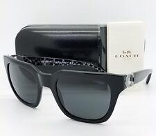 Novo Óculos de Sol Coach HC8240 551087 52 Preto Cinza Cateye Borboleta autêntico 8240