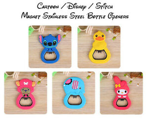 Cartoon & Stitch Stainless Steel Magnet Bottle Opener - Fast & Free Post