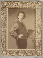 Photo 1880 Comte CHAUMONT de QUITRY  Peintre Palette - Furibondi Calvi Montenses