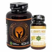 BCAA + Leuzea 100 tabs | St John`s Wort | Muscle Health Recovery | Strees Sleep