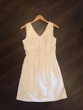 KENSIE TEXTURED FIT AND FLARE DRESS WHITE SMALL NWT NEW RETAIL $109