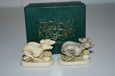 Harmony Kingdom Pacer & Senior Centre / Hospice Greyhound Figurines Dog Pair