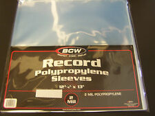 "50 loose - Vinyl / Record 33 rpm Sleeves 12"" LP Album Plastic Covers whole album"