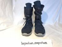 Nike Women's Roshe Two Hi Flyknit Trainers/Trainer Boots Black/Navy Size UK 4