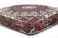 "35"" Square Cushion Pillow Cover Indian Elephant Mandala Throw Floor Ottoman Pouf"
