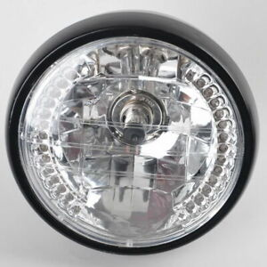 Motorcycle Headlight with Black Bracket H4 35W 12V Amber Blinker For Yamaha ATV