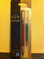Parker Vector/jotter/IM/ Urban Stainless Steel Fountain Pen Blue Black pink NEW