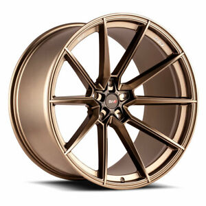 "22"" SAVINI SV-F4 BRONZE FORGED CONCAVE WHEELS RIMS FITS DODGE DURANGO"