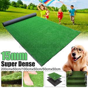 15mm Dense Artificial Turf Grass Mat Fake Synthetic Landscape Golf Lawn Garden
