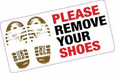 Si prega di rimuovere le scarpe grandi stampato Adesivo Vinile HOME Moschea GYM POOL
