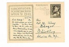 Deutsches Reich echtgelaufene P 294 ab Posen 27.10.1942 nach Duisburg