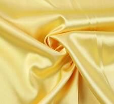(EUR 4,97/m) SATIN FUTTERSTOFF Stoff Meterware elastisch glänzend Gelb