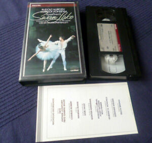 VHS Video Tape Swan Lake Rudolf Nureyev Margot Fonteyn John Lanchbery Vienna '66