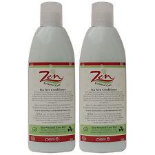 TEA TREE CONDITIONER ORGANIC Pack2 Kills bacteria against itchy dandruff