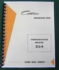 "Collins 51J-4 Instruction Manual: W/ 11""X17"" Schematic & Protective Covers!"