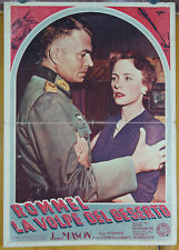 soggettone film ROMMEL THE DESERT FOX James Mason Jessica Tandy 1952